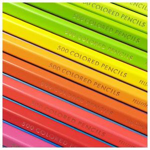 フェリシモ500色色鉛筆No.2。初回のフェリシモ色鉛筆の発色と書き味はどうだったのか。