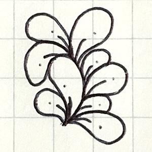 ボールペンでゼンタングルを描いてみました
