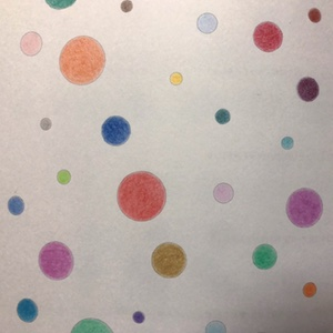 練習!描き込み式 色鉛筆ワークブック。水玉模様を塗ってみる&カラーチャートを作る。