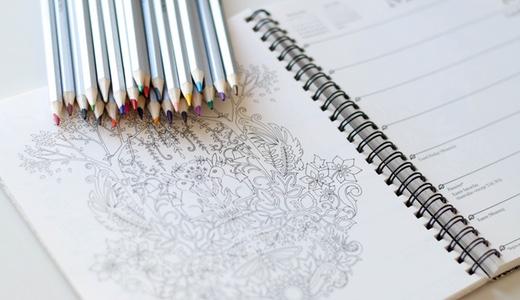 大人の塗り絵。私の練習用ワークブック&色鉛筆での塗り方まとめ。