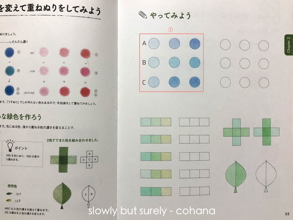 描き込み式色鉛筆ワークブック