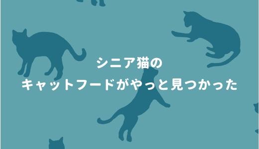 シニア猫のキャットフードがやっと見つかった